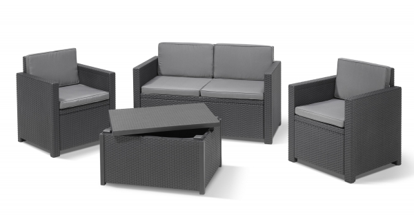 Allibert Lounge Set Monaco Graphite